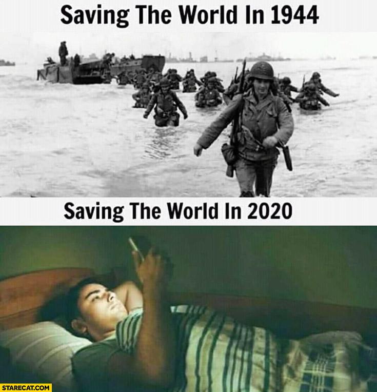 saving-the-world-in-1944-vs-saving-the-world-in-2020-from-home-coronavirus-meme.jpg